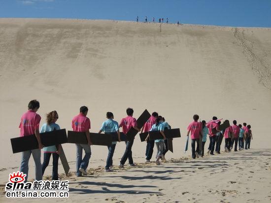 图文:青春之星农庄之旅--选手们出发前往山顶