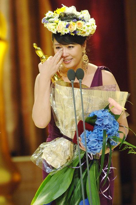 图文:MBC年度演技大奖--金善雅喜极而泣