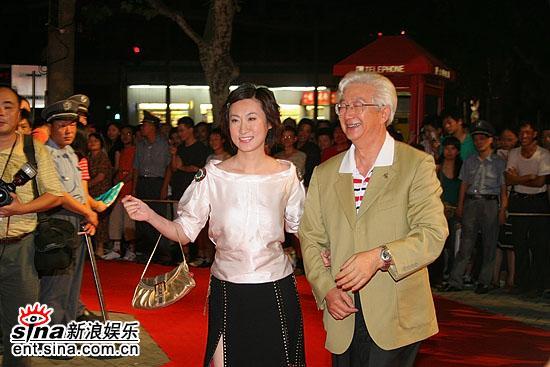 图文:2006主持人盛典红地毯--元元和陈铎图片