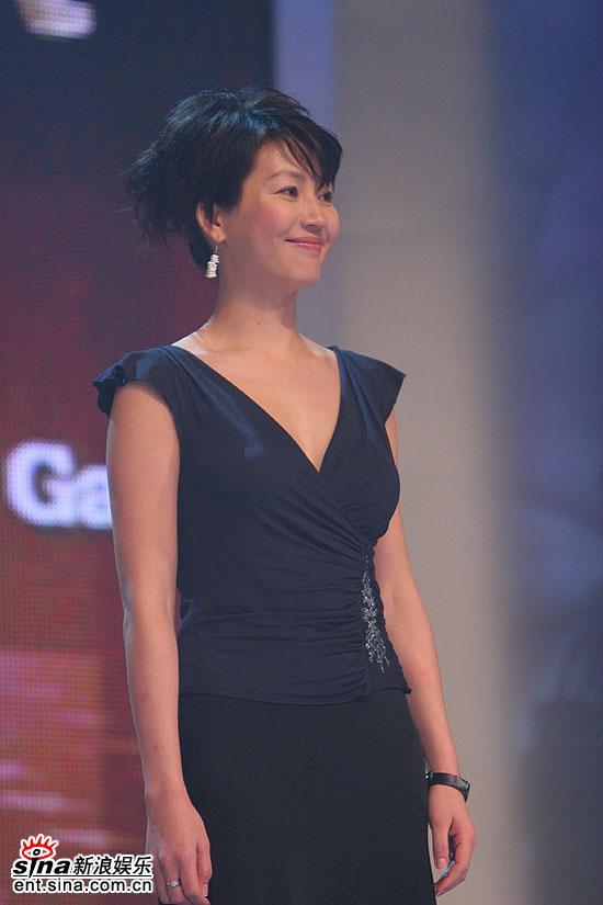 图文:2006主持人盛典--王小丫美丽侧脸