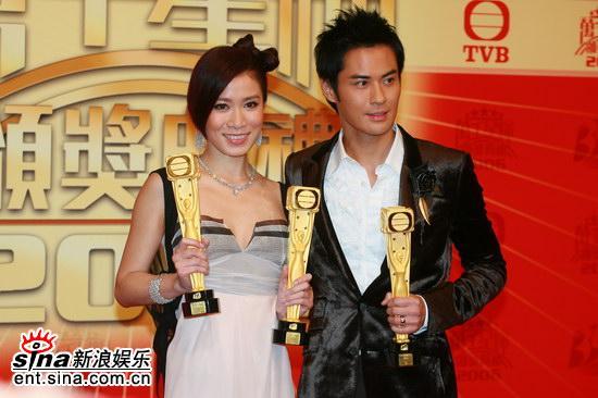 图文:TVB39周年台庆颁奖--郑嘉颖本并补被看好