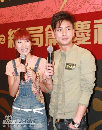 图文:《溏心风暴》结局庆祝会--杨怡与黄宗泽