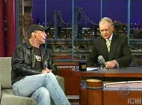 Bruce Willis auf Letterman Dick Cheney