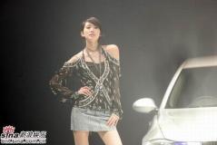 组图:林志玲与名模争艳性感出席车展派对