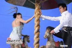 组图:郭富城演绎空中飞人为个唱拍前奏宣传片