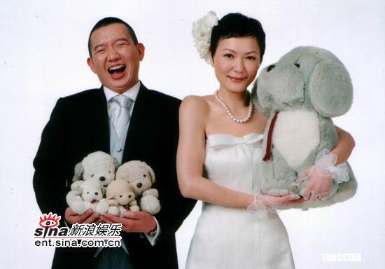 图文:杜汶泽和田蕊妮结婚照曝光(1)