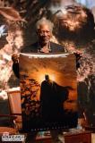 组图:摩根-弗里曼出席《蝙蝠侠5》中国首映式