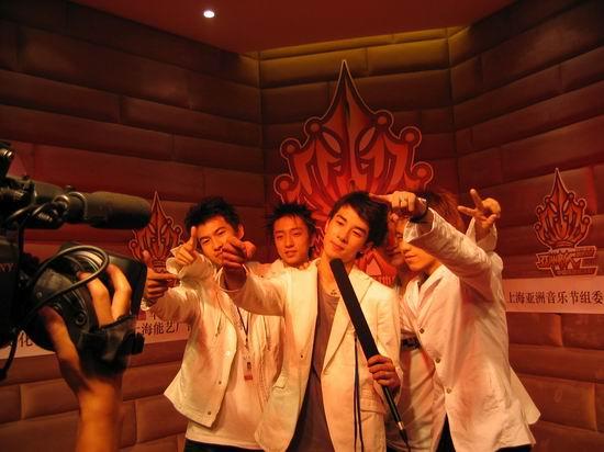资料图片:亚洲新人赛中北英皇艺人接受采访(5)