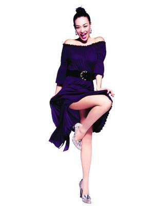 钟丽缇广告秀美腿