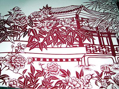 剪纸:旧日西关,尽入红纸繁花间