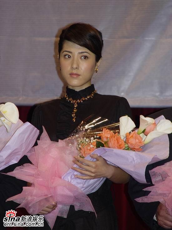 图文:《理发师》上海特别献映活动--主演曾黎