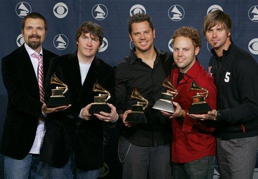 图文:乐队ThirdDay获得最佳摇滚灵乐专辑奖