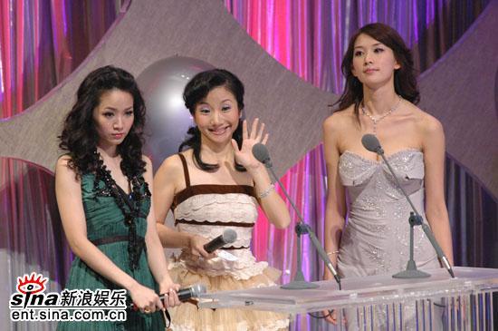 图文:侯佩岑陶子林志玲三位美女主持表情各异