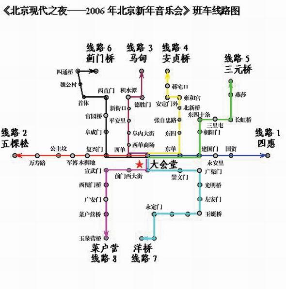 北京新年音乐会推便民措施8辆大巴送观众(图)