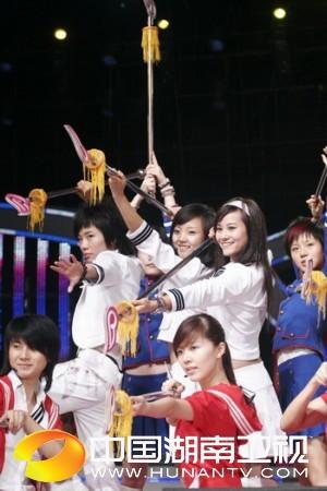 资料图片:超女总决赛之十强入围赛第一场彩排(12)