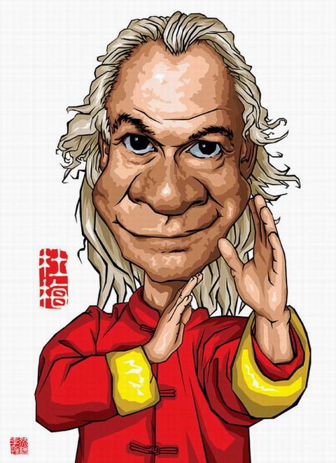 资料图片:音乐家肖像漫画--杜梅
