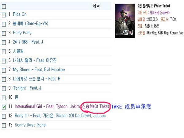 韩国组合SIDE-B发行新专辑TAKE组合遭遇同名