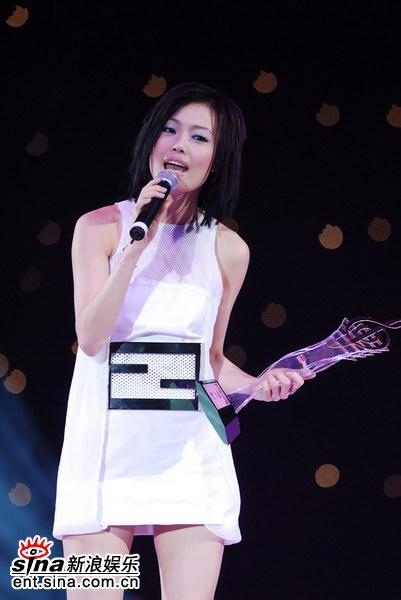 容祖儿获颁十优流行歌手奖项(图)