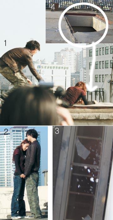 韩当红女星李孝利九死一生险些从20米屋顶坠落