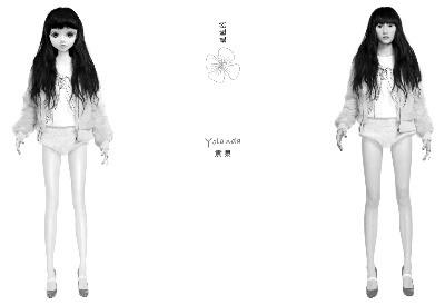 袁泉专辑推出虚拟卡通形象长腿娃娃造型迷人