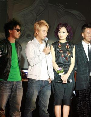 陈奕迅呼吁打击盗版aigoMusic登音乐展(图)