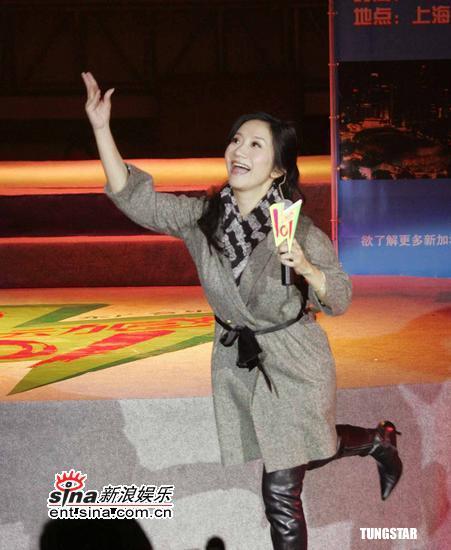 组图:林俊杰陶晶莹等出席上海校园演唱会