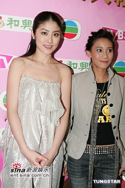 图文:内地最受欢迎的陈慧琳与新人同恩合影