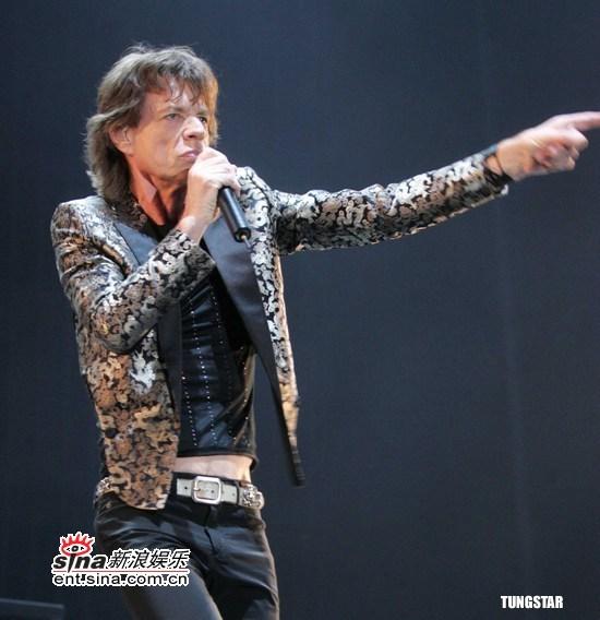 组图:滚石乐队上海演唱会开唱现场气氛火爆