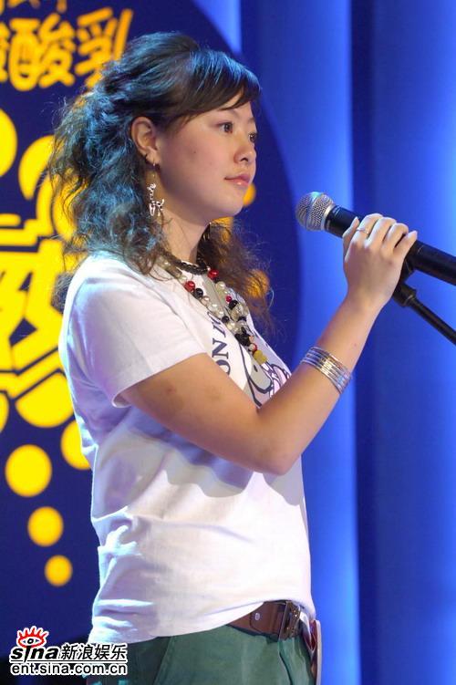 图文:超女杭州50进20比赛现场大眼睛美女选手