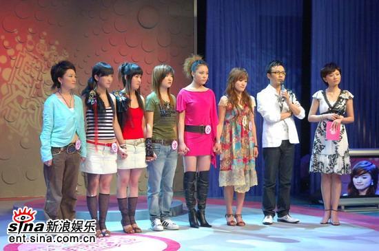 图文:超级女声杭州50进20--36号至40号选手