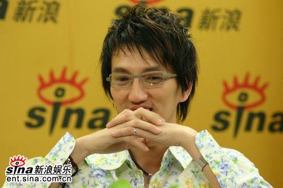 图文:林志炫做客新浪--嗓音不是个人的财产