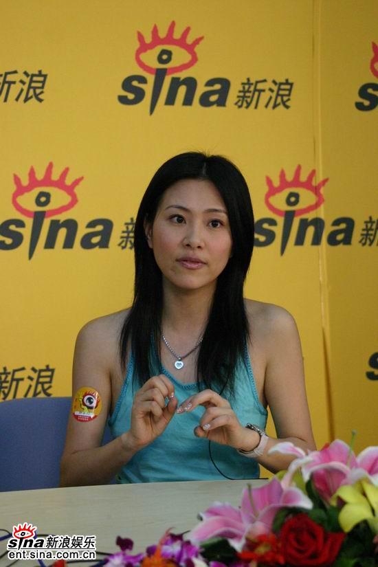 图文:歌手李慧珍做客新浪-与爱人一路风雨走来