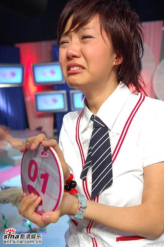 图文:超女杭州20进10--朱雅琼终于释放了压力
