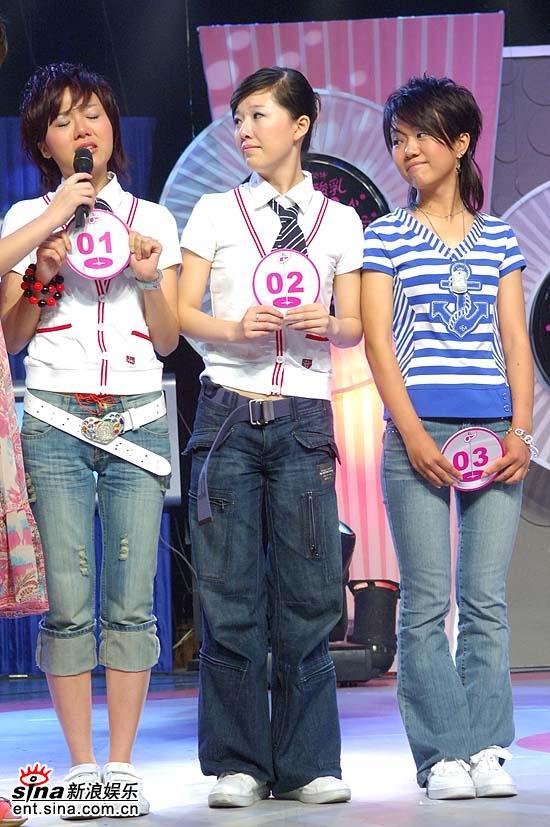图文:超女杭州20进10--1号、2号与3号