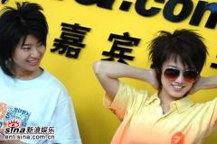 超级女声广州赛区5强选手做客新浪聊天(组图)