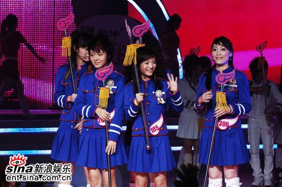 图文:超女入围赛第一场--蓝色超女军团