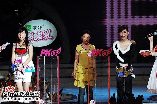 图文:超女总决赛10进8-大众评审开始投票
