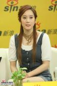 雪白歌姬许慧欣做客聊新专辑及新浪歌会(组图)