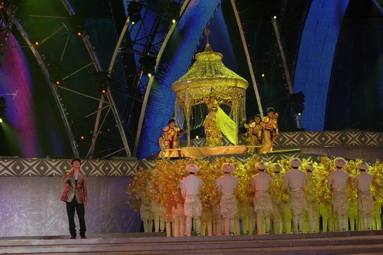 图文:南宁民歌节盛大开幕--沙宝亮
