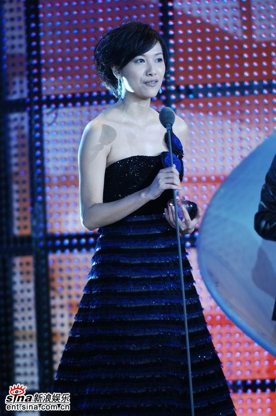 图文:才女徐静蕾晚装出场获颁最具风格人物(3)