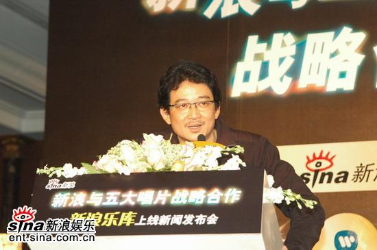 图文:环球唱片大陆及香港地区董事总经理洪迪