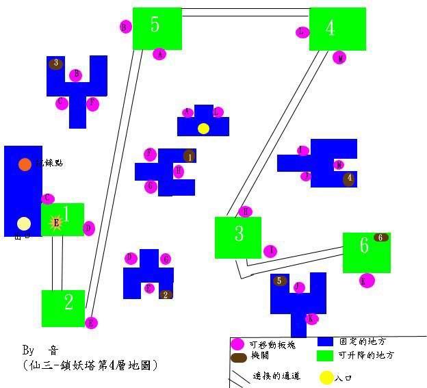 仙剑奇侠传3外传迷宫地图 锁妖塔4层