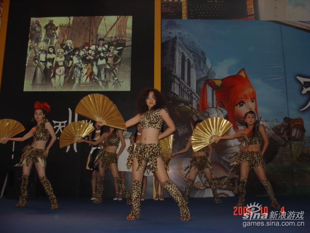 网博会新浪乐谷展台:劲歌热舞