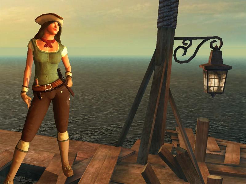 《燃烧之海的海盗》游戏画面