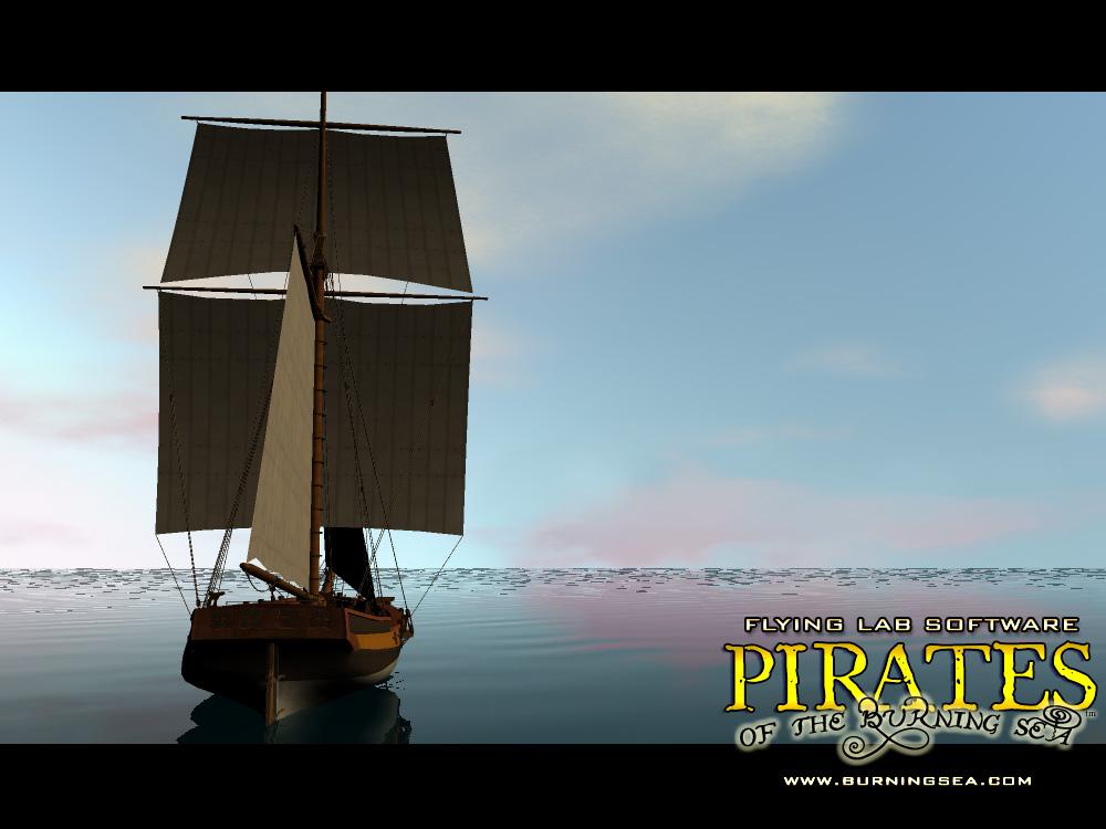 《燃烧之海的海盗》精美壁纸
