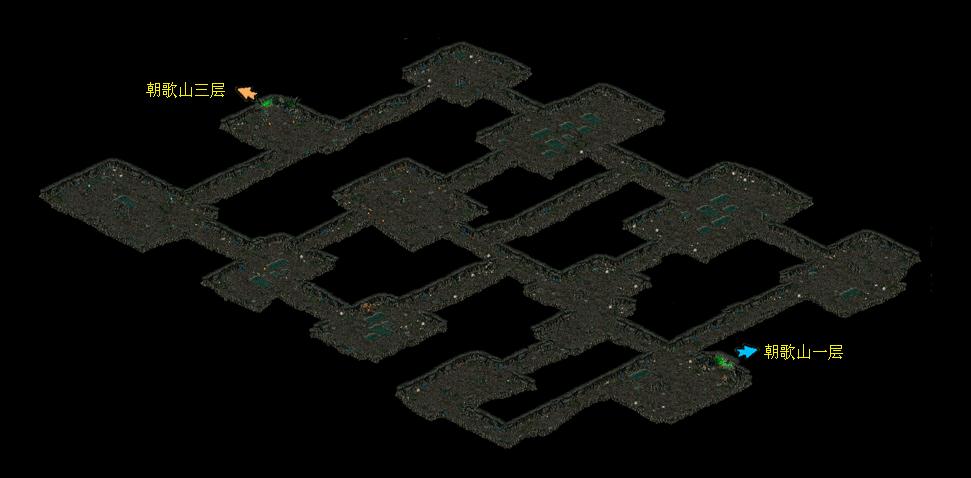 《华夏免费版》游戏地图_朝歌山二层
