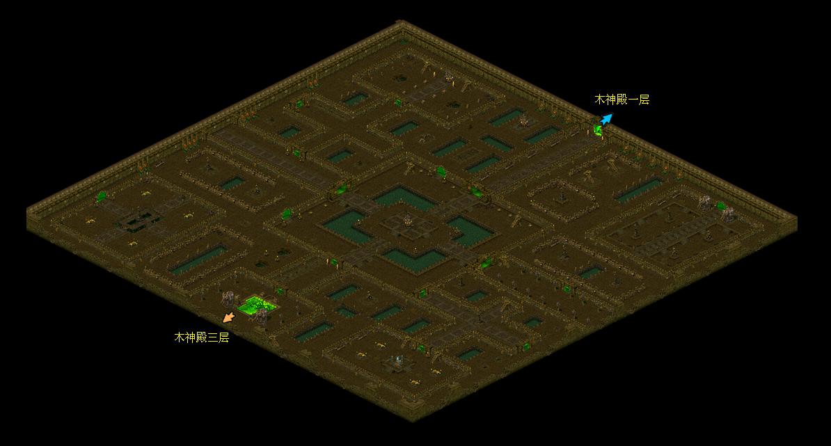 《华夏免费版》游戏地图_木神殿二层