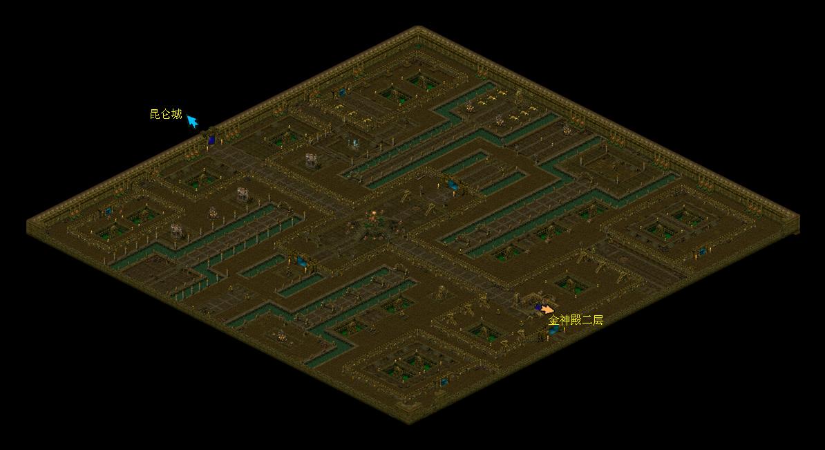 《华夏免费版》游戏地图_金神殿一层