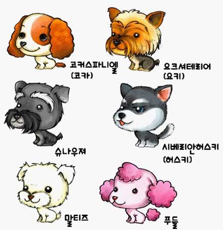 让我们看看游戏中可爱宠物的前身,欣赏一下六只宠物的原画吧!
