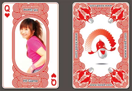 h5game又有新花样 代言人mm上了扑克牌_新浪游戏_新浪